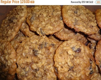 ON SALE: Homemade Oatmeal Raisin Cinnamon Cookies (2 Dozen)