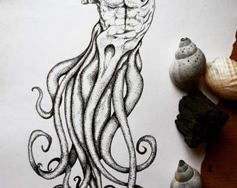 M Y T H O S: OCEAN A4 print