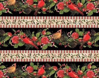 Christmas Fabric / Christmas in The Wildwood, Repeating Stripe / Wilmington Prints 33803 / Fat Quarters & Yardage / Christmas Yardage