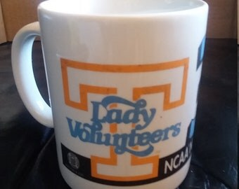 Tennessee Lady Volunteers basketball 3 in a row coffee  mug/cup 1996-1997-1998 Pat Summit/NCAA/ALUMNI/tailgate/college/University
