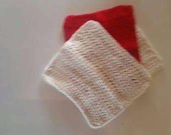 Dish cloth.  Wash cloth. Gift. Housewarming. Valentines