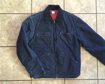 Osh Kosh Denim Jacket Corduroy Collar Made in USA 42 Long 1980's