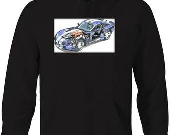 Dodge Viper Breakout RT/10 Racing Performance Mopar Hooded Sweatshirt- 5374