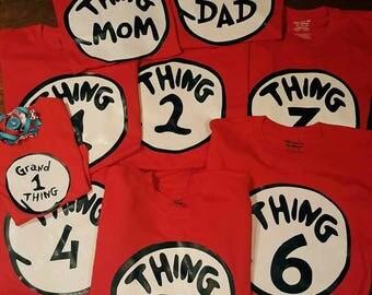 Thing 1, thing 2, family reunion shirts, family shirts