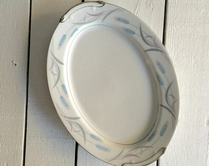 Vintage serving platter in the Royal Wheat pattern by Valmont