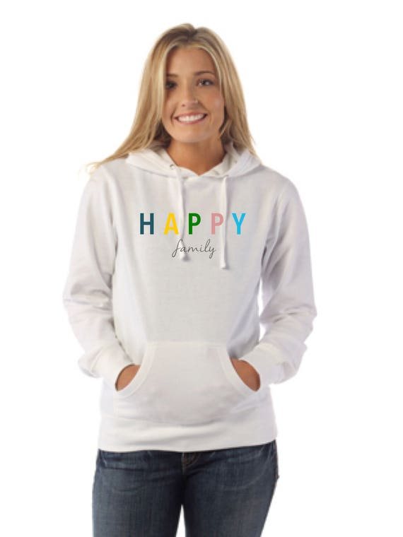 Round neck women hoodie HAPPY FAMILY