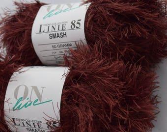 Brown Polyester Fashion Yarn 100 g