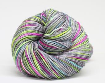 Sock superwash merino/nylon; Electric Boogaloo 100g, hand dyed yarn