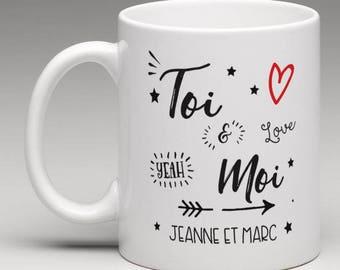 "Personalized mug ""you & me"""
