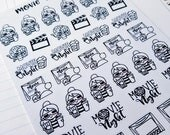 Cora - Movie/ Theatre | mid size monochrome character / action | Planner stickers