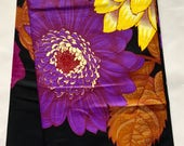 "African Print Fabric/ Ankara - Black 7.0 ""Epic Blooms"", YARD or WHOLESALE"