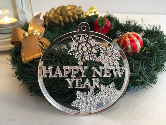 Personalised Xmas Holiday Baubles Happy New Year Gift Merry Christmas Name ornament Housewarming gift Christmas gift Xmas Snowflake ornament