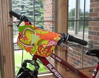 Bike Handlebar Bag / Cross shoulder Bag / Fanny Bag / Clutch Purse - Cheeky Orange