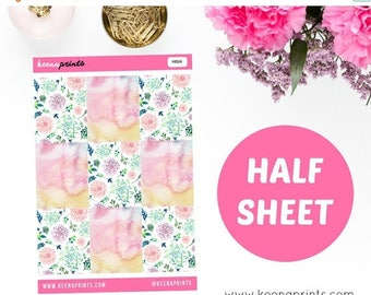 15% OFF H004 | 9 WATERCOLOR Full Box Stickers Perfect for Erin Condren Life Planner, Filofax, Plum Paper & other planner or scrapbooking