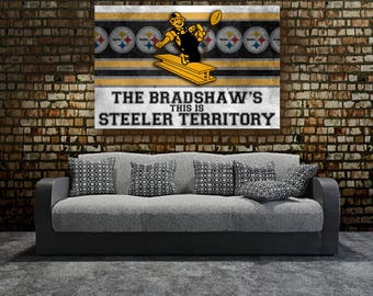 steelers bedroom. Pittsburgh Steelers  Retro Stretched Canvas Wall Art Perfect gift decor Etsy