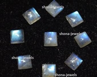 10-P Wholesale Lot Of Gray Labradorite Square Shape Loose Gemstone Cabochon Free Shipping