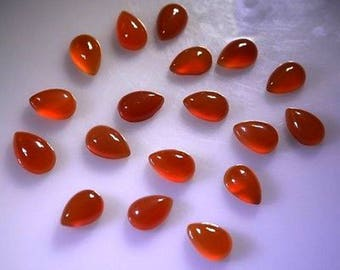 10-P Wholesale Lot Of  Natural Red onyx Pear Shape Loose Gemstone Cabochon for jewelry