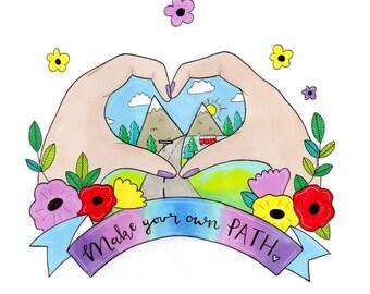 Make your own path A5 print