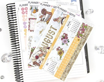 Eat Slay Love August Monthly View Planner Kit   206 Stickers   Planner Stickers   For Erin Condren LifePlanner