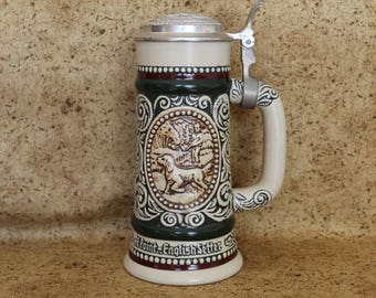 Sporting Beer Stein by Avon with Box