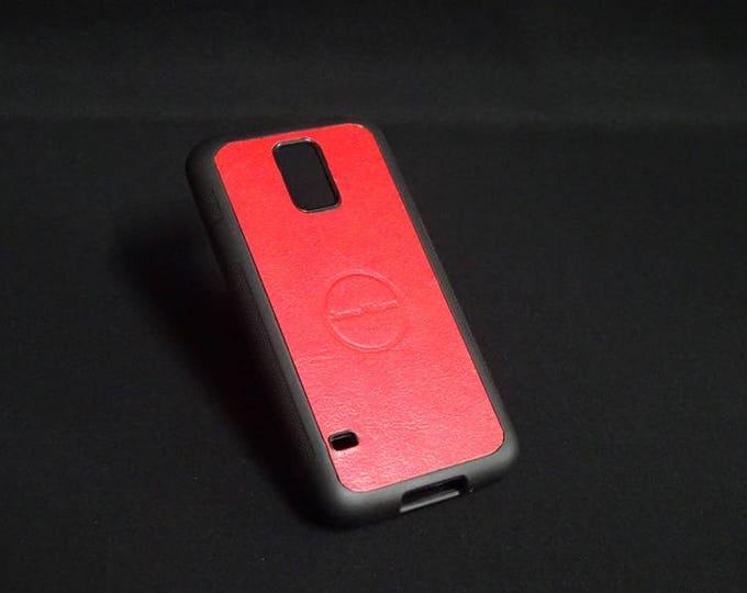 Samsung Galaxy S5 - Jimmy Case in Candy Red - Kangaroo leather - Handmade - James Watson