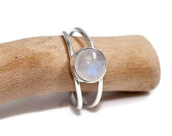 Moonstone Ring  | Moonstone Jewelry | June Birthstone Ring  | 925 Silver Ring | Moonstone Jewellery | Gift for Her | Gemstone Ring | UK