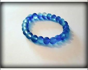 Soft Blue frosted Beads Bracelet