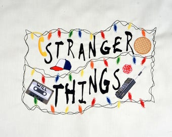 Stranger Things lights machine embroidery design 8x12