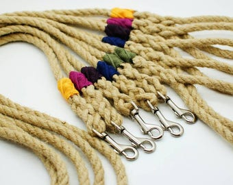 Hemp rope dog lead in all sizes - eco friendly, sustainable, hard-wearing and hand made!