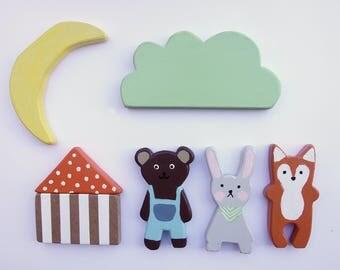Woodlands Wooden 7 Piece Toy Set