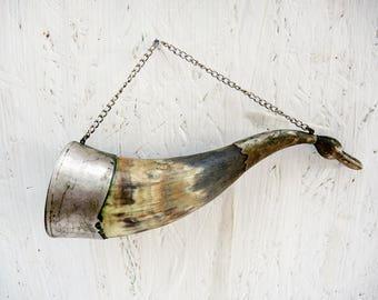 Drinking horn - Viking horn - Soviet horn - Cornucopia - Wall decor