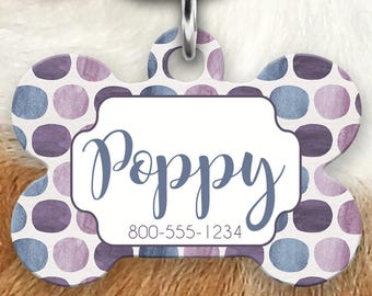 Purple Pet ID Tag, Personalized Dog Tag, Tag for Dogs, Dog Tag for Collar, Dog ID Tags, Pet Gifts, Personalized Pet Tag, Dog ID Tag, Dog Tag