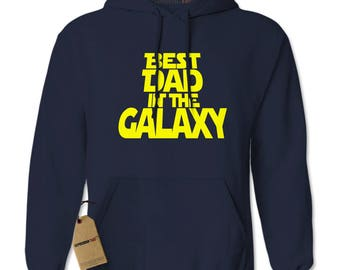 Best Dad In The Galaxy Adult Hoodie Sweatshirt