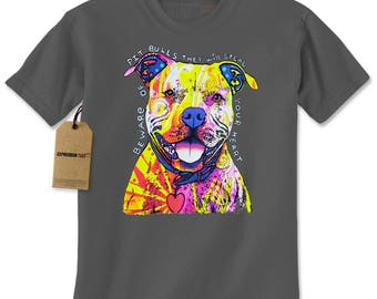 Beware Of Pit Bulls, They Will Steal Your Heart Mens T-shirt