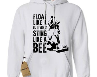 Float Like A ButterFly Muhammad Ali Tribute Adult Hoodie Sweatshirt
