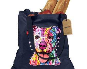 American Pitbull Graffiti Shopping Tote Bag