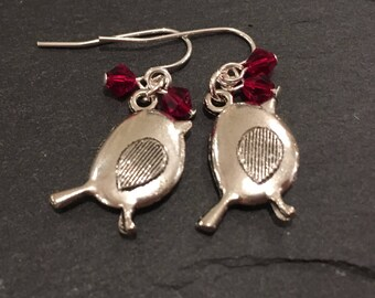 Robin Christmas earrings, Girl's stocking filler, christmas jewellery