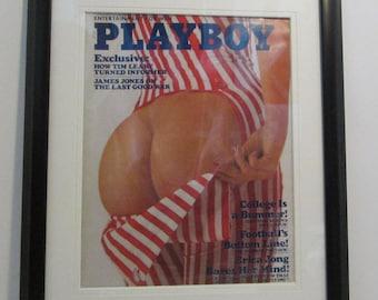 Vintage Playboy Magazine Cover Matted Framed : September 1975 - Amy Arnold