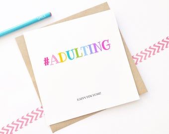 New Home Card, New House, Moving Card, Adulting Card, Funny Card, Housewarming Card, Card For Friends, New Neighbour Card
