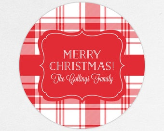 24 HOUR DIGITAL FILE, Plaid Christmas Labels, Holiday Gift Stickers, Holiday Gift Tags, Christmas Gift Tag, Plaid Stickers, Plaid Gift Label