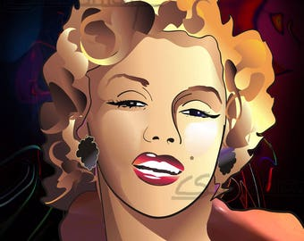Portrait poster of Marylin Monroe