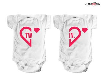 Twin Baby Bodysuits / Twins Matching Outfit