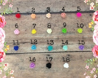 9mm Resin Flower Bead Add on | Too Stamping Cute