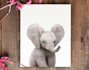 Safari nursery art, Elephant print, PRINTABLE art, Safari animals wall art, Baby elephant, Safari theme, Nursery wall art, Safari baby room