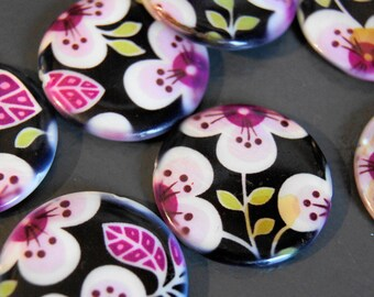 5 PATTERNS ORCHID SHELL BEAD 25 MM PEARL BEADS