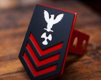 Navy Badge Trailer Hitch Cover