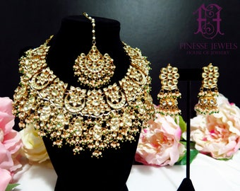 Sabyasachi Indian Necklace Kundan Earrings Indian Bridal jewelry,Fine Gold Necklace,Indian Jewelry set,Fine Estate Jewelry,Kundan jewelry