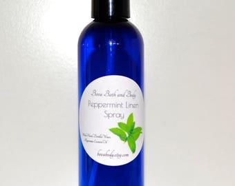 Peppermint Linen Spray 4oz, Room Fragrance, All Natural Air Freshner