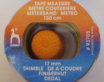 Tape measure with 150cm + thimble 17mm