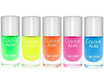 Neon stamping polish - set